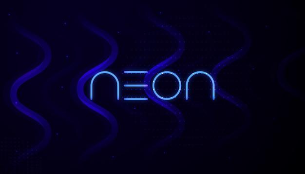 Design de fond abstrait néon