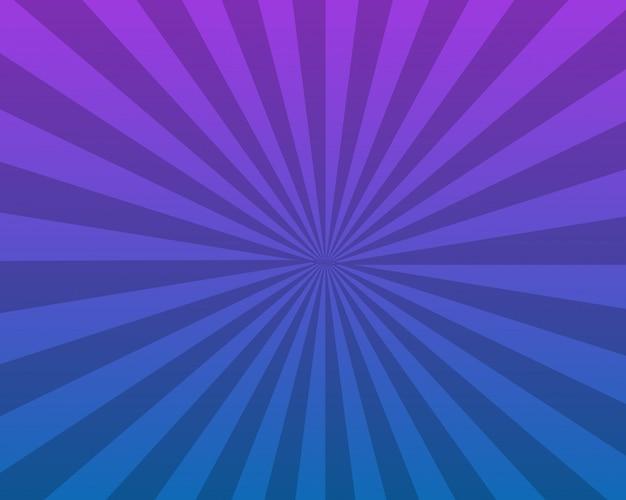 Design de fond abstrait sunburst bleu
