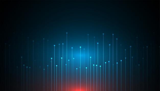 Design de fond abstrait technologie de données volumineuses