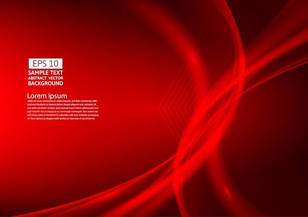 Design de fond abstrait vagues de couleur rouge