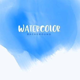 Design de fond aquarelle abstraite bleu