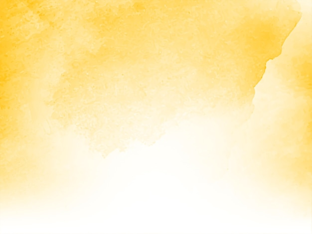 Design de fond aquarelle jaune doux moderne