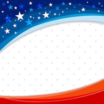 Design de fond bannière amérique ou usa du drapeau américain