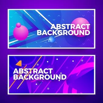 Design de fond bannière web abstrait créatif