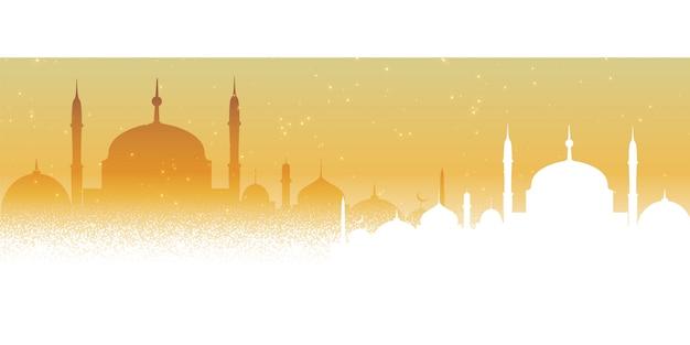 Design de fond belle mosquée arabe