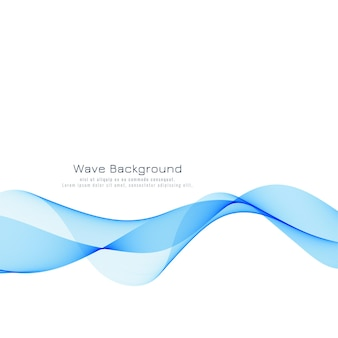 Design de fond belle vague bleue