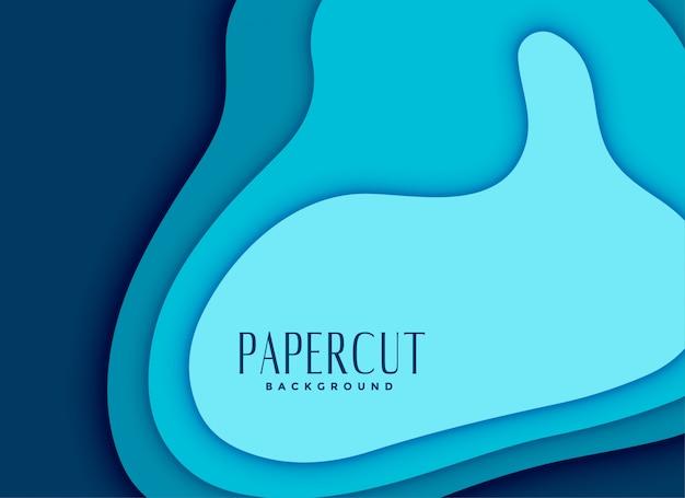 Design de fond bleu papercut abstrait