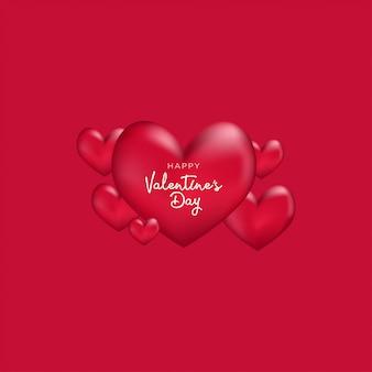 Design de fond de bonne saint-valentin