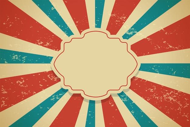 Design de fond classique vintage sunburst