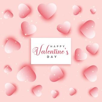 Design de fond des coeurs saint valentin