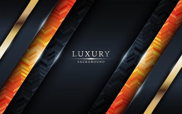Design de fond coloré et doré de luxe.