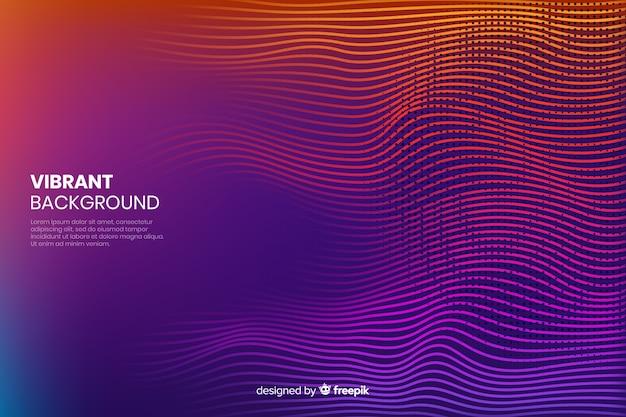 Design de fond de couleur effet demi-teinte vibrant