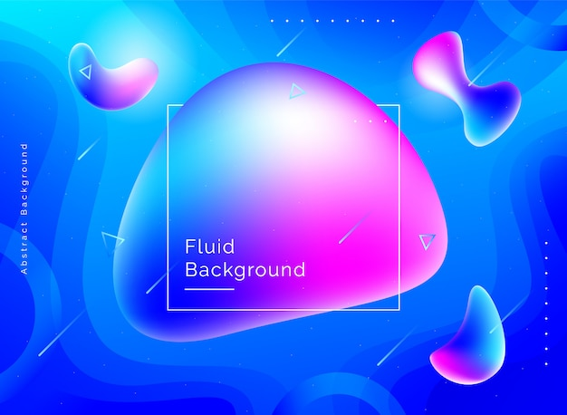 Design de fond de couleur liquide