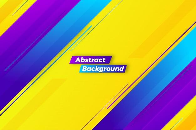 Design de fond créatif abstrait jaune dynamique