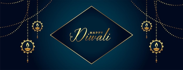 Design de fond décoratif joyeux diwali festival