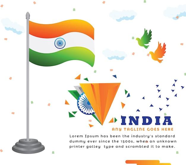Design de fond de drapeau indien créatif