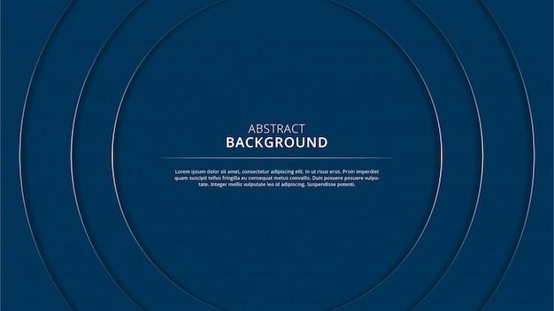 Design de fond élégant papercut cercle bleu marine