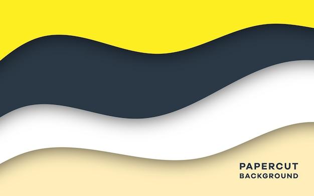 Design de fond élégant de style papercut abstrait moderne