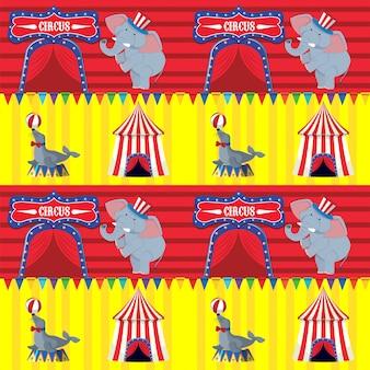 Design de fond avec éléphant et sceau