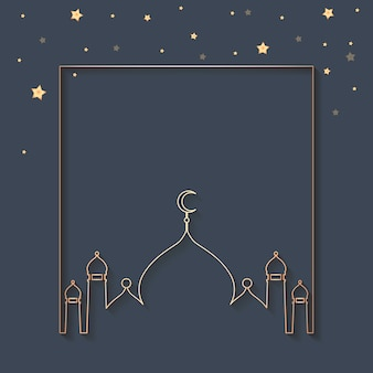 Design de fond encadré par ramadan