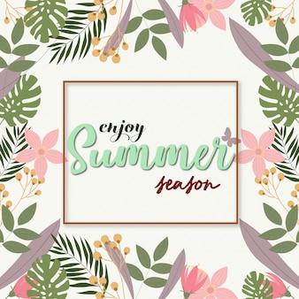 Design de fond de l'été