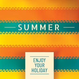 Design de fond d'été