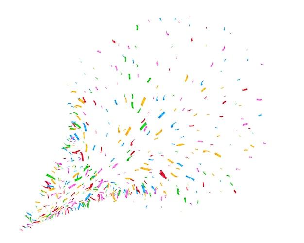Design de fond explosion de confettis colorés
