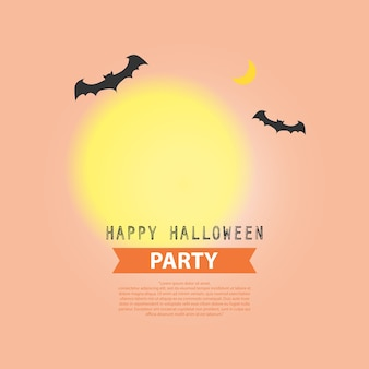 Design de fond fête d'halloween heureux