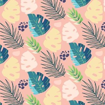Design de fond de feuilles colorées