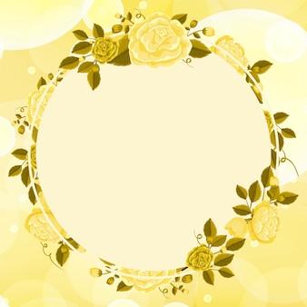 Design de fond avec des fleurs jaunes