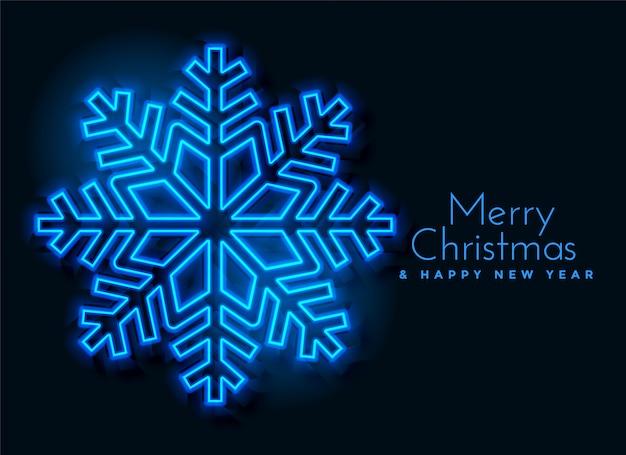 Design de fond de flocons de neige bleu néon