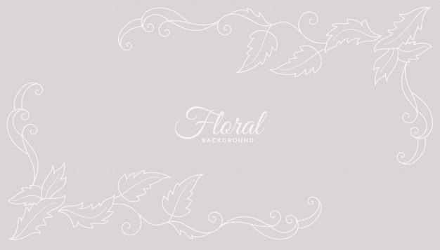 Design de fond floral propre avec des couleurs douces