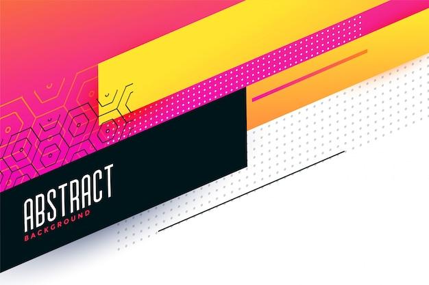 Design de fond géométrique abstrait coloré