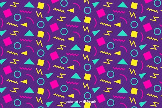 Design de fond géométrique des années 80 avec un style rétro