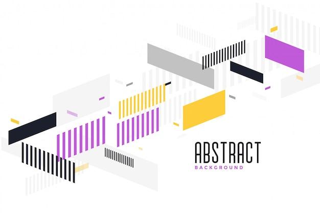 Design de fond géométrique moderne abstrait