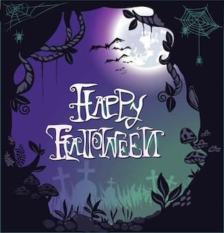 Design de fond halloween heureux.