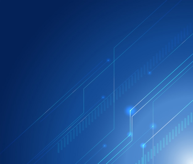 Design de fond avec des lignes sur fond bleu