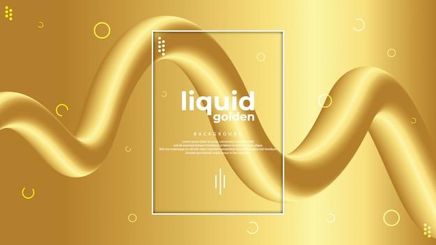 Design de fond liquide doré