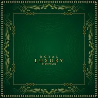 Design de fond de luxe de couleur verte élégante