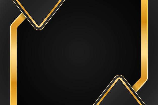 Design de fond de luxe doré avec double demi-triangle