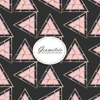Design de fond de luxe avec des éléments géométriques
