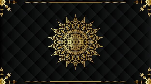 Design de fond de luxe mandala arabe