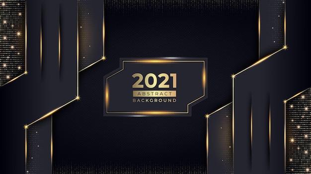 Design de fond de luxe nouvel an avec motif doré