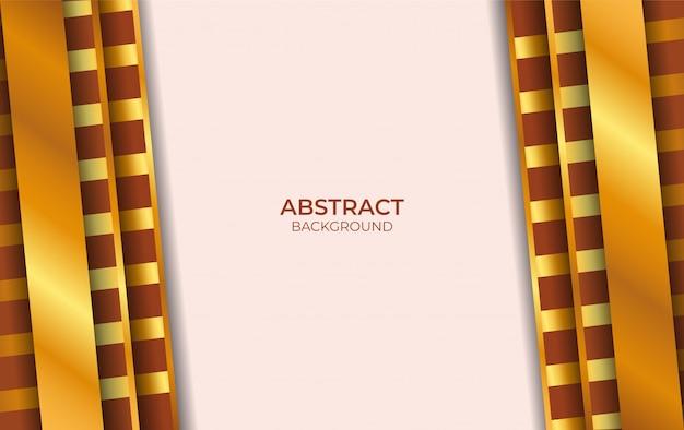 Design fond de luxe style marron et or