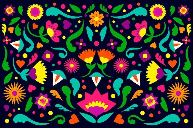 Design de fond mexicain coloré