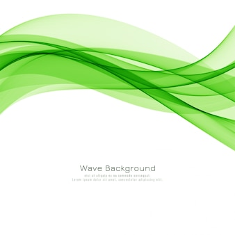 Design de fond moderne abstrait vague verte