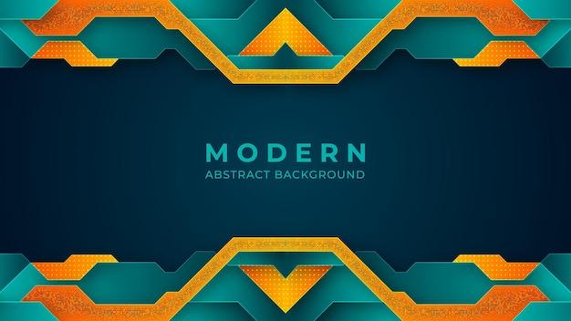 Design de fond moderne de couleurs turquoise et orange