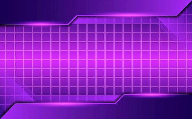 Design de fond moderne twitch violet abstrait avec lumière violette et lignes