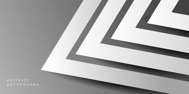 Design de fond monochrome géométrique abstrait moderne