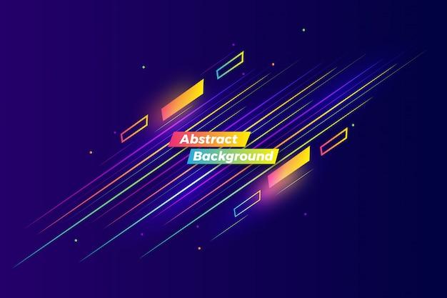 Design de fond motion illustration colorée abstraite